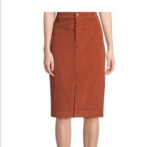 Free People Rosemary Corduroy Pencil Skirt Sz 24R